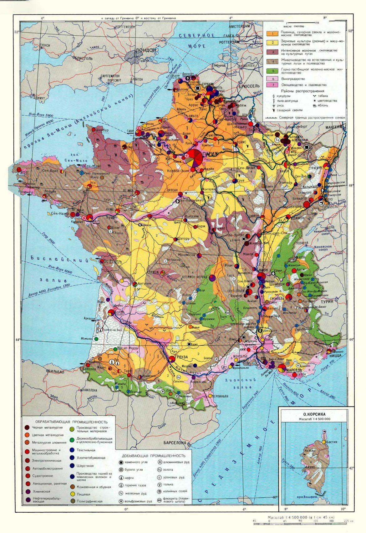 Франция на экономической карте